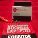 Don't forget to have lots of business cards on your exhibition stand.